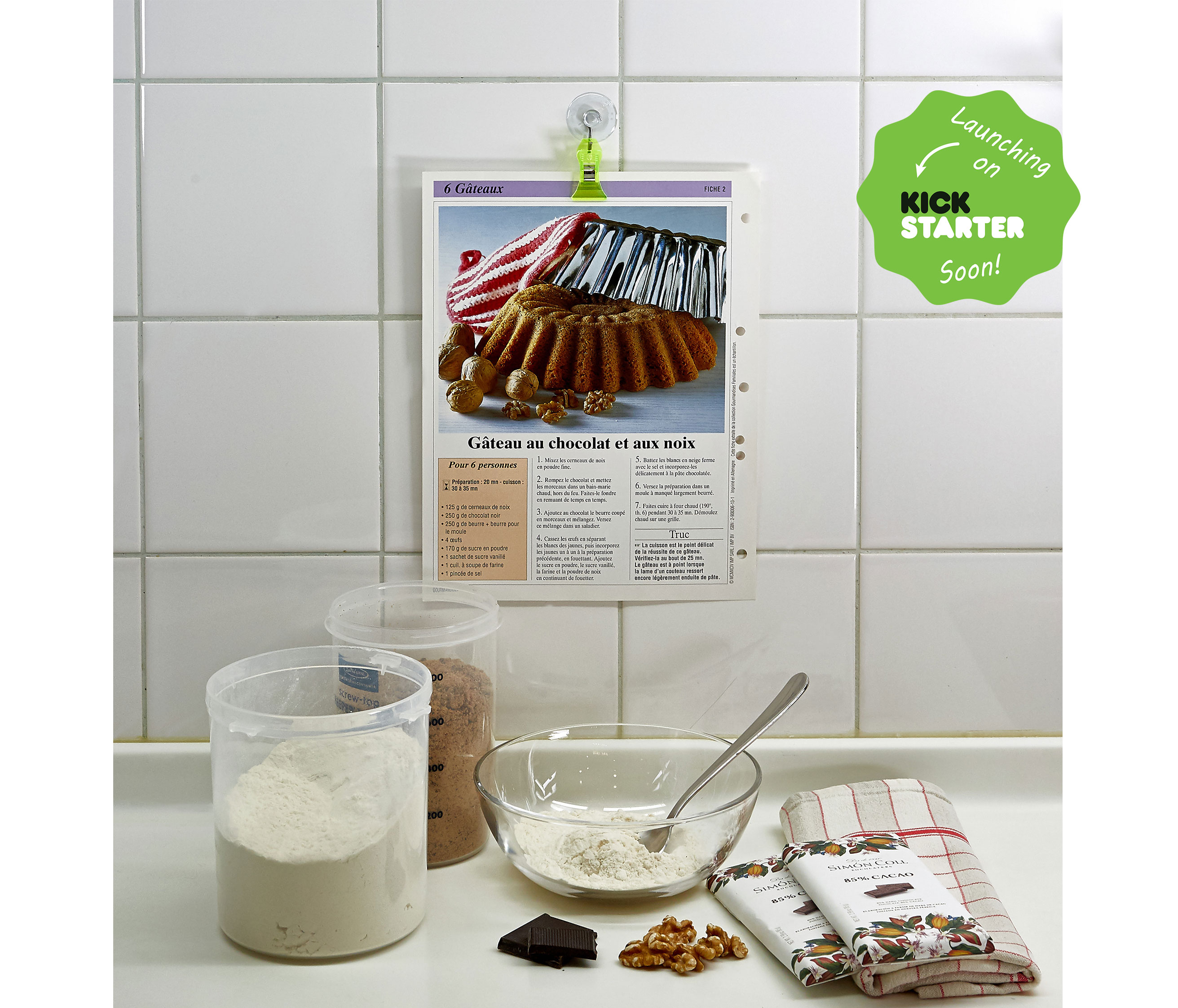 a clip for your kitchen, to hang recipes, towels and much more